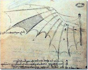 Leonardo Da Vinci, Bat Wing with Proportions
